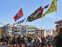 Turkish Shia men mourning day of Ashura Royalty Free Stock Image
