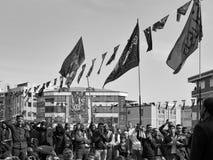 Turkish Shia men mourning day of Ashura Royalty Free Stock Photos