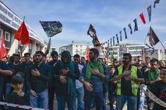 Turkish Shia men mourning day of Ashura Stock Photography