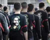 Turkish Shia men mourning day of Ashura Stock Photos