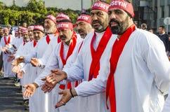 Turkish Shia men mourning day of Ashura Stock Image
