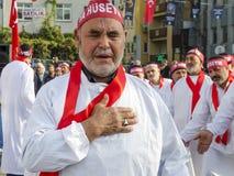 Turkish Shia men mourning day of Ashura Royalty Free Stock Photography