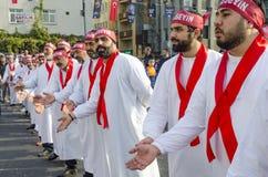Turkish Shia men mourning day of Ashura Royalty Free Stock Photo
