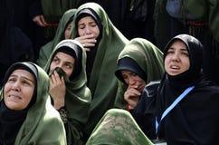 Turkish Shia women mourn during an Ashura procession in Istanbul Stock Photos