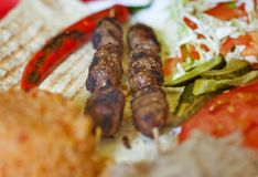 Turkish shish kebab Royalty Free Stock Photo