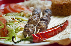 Turkish shish kebab Stock Photography