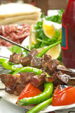 Turkish shish kebab Royalty Free Stock Photos