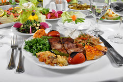 Turkish shish kebab Royalty Free Stock Photos