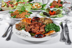 Turkish shish kebab Stock Images