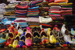 Turkish shoe stall Stock Photography