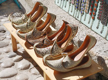 Turkish shoes Royalty Free Stock Photo