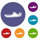 Turkish shoes icons set Stock Photo