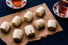 Turkish Shortbread Cookies with tea / Un Kurabiyesi Royalty Free Stock Photos