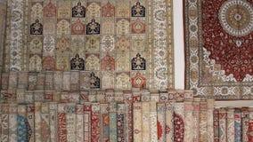 Turkish silk carpets Royalty Free Stock Photo