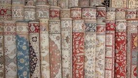 Turkish silk carpets Stock Photo