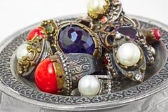 Turkish silver rings Stock Photos