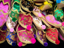 Turkish Slippers on a market Stock Image