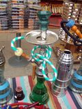 Turkish smoking water pipe nargile or shisha Stock Images