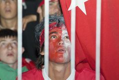 Turkish Soccer Fan Stock Photos