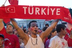 Turkish Soccer Fan Royalty Free Stock Image
