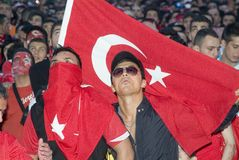 Turkish Soccer Fan Royalty Free Stock Images