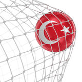 Turkish soccerball in net Royalty Free Stock Photos