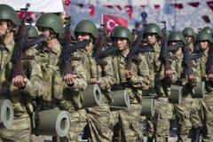 Turkish soldiers walking. Royalty Free Stock Photo