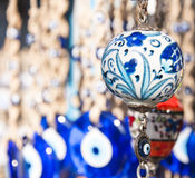 Turkish Souvenirs. Hand-made Turkish souvenirs, objects and pottery with traditional designs, legacy of Ottoman Empire, Istanbul Royalty Free Stock Images