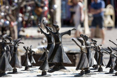 Turkish souvenirs: figures of dervishes Royalty Free Stock Photos