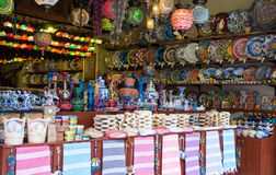 Turkish souvenirs. On the market Royalty Free Stock Image