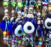 Turkish souvenirs. Traditional blue evil eyes Stock Photo