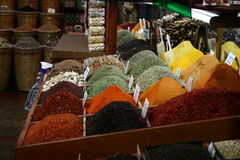Turkish Spice Bazar IV. Spices in the historical Spice Bazar in Istanbul, Turkey Royalty Free Stock Photo