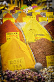 Turkish spice market Royalty Free Stock Image