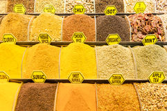 Turkish Spice market Royalty Free Stock Images