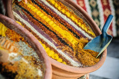 Turkish spices. At the bazaar Royalty Free Stock Photography