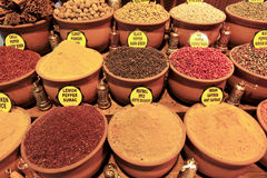 Turkish Spices at the Grand Bazaar. Spices for sale at the Grand Bazaar in Istanbul, Turkey Royalty Free Stock Photo