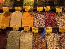 Turkish spices and tea Royalty Free Stock Photo