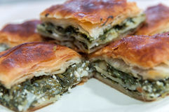 Turkish spinach pies Royalty Free Stock Images