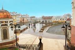 Turkish Square in Chernivtsi, Ukraine Royalty Free Stock Photography