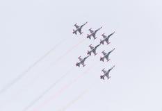 Turkish star air force demonstration team Stock Image