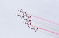 Turkish star air force demonstration team Royalty Free Stock Images