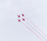 Turkish star air force demonstration team Stock Photography