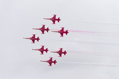 Turkish star air force demonstration team Stock Photos