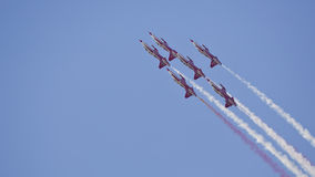 Turkish Stars Acroteam Airshow Royalty Free Stock Image