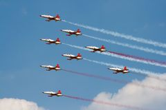 Turkish Stars airshow Royalty Free Stock Photography