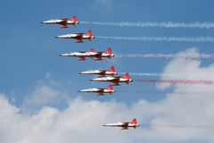 Turkish Stars airshow Royalty Free Stock Images