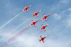 Turkish Stars - Airshow Stock Image