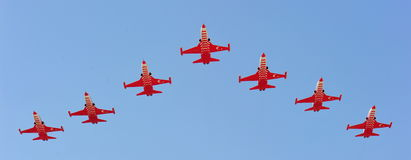 Turkish Stars aviation team at BIAS 2012 Royalty Free Stock Images