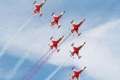 Turkish Stars demo team Royalty Free Stock Photo