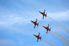 Turkish Stars demo team in formation Royalty Free Stock Photo